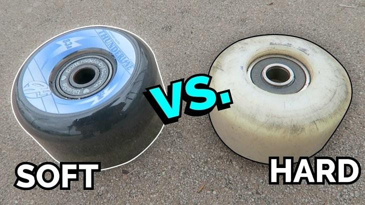 soft wheels vs hard wheels skateboarding