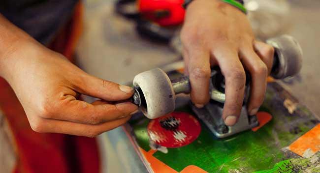 how do you clean skateboard wheels