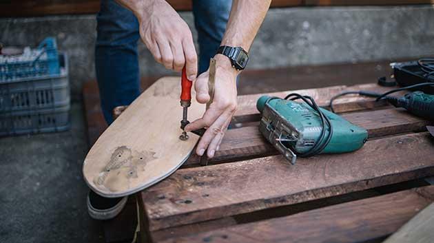 how to make a skateboard deck
