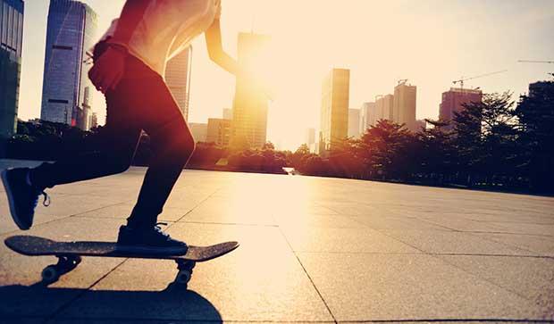 goofy skate stance