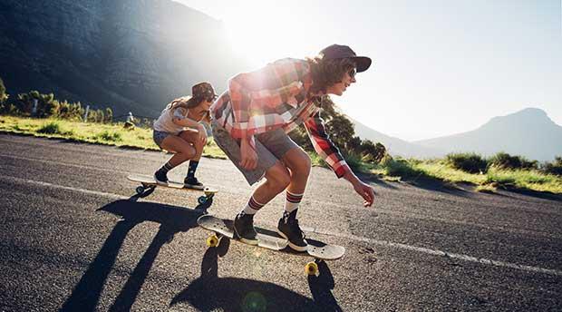 regular skateboard stance