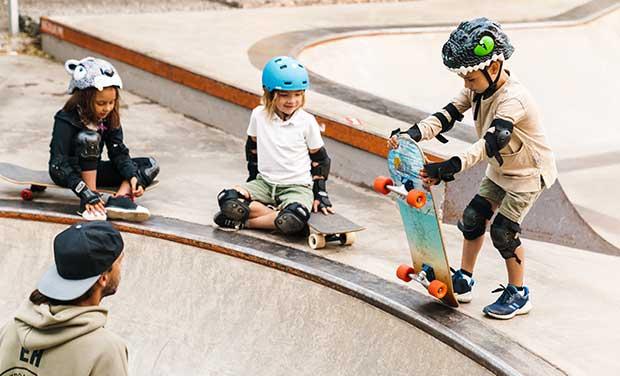 Skateboarding brings many social skills for kids
