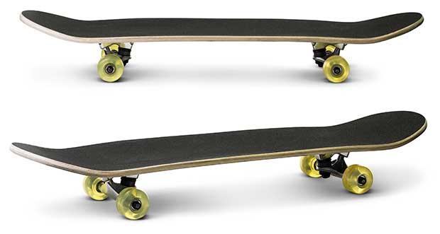 nose vs tail of skateboard