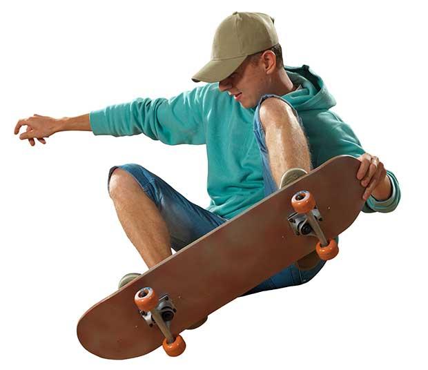 skateboard tail vs nose