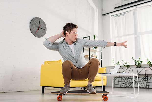 how to practice skateboarding inside